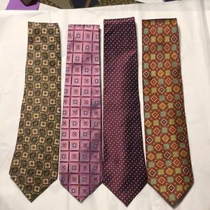 Four men's preowned excellent condition ties.